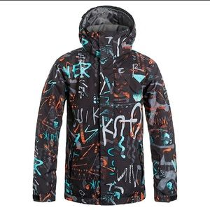 Quiksilver Mission Printed Youth Ski / Snow Jacket